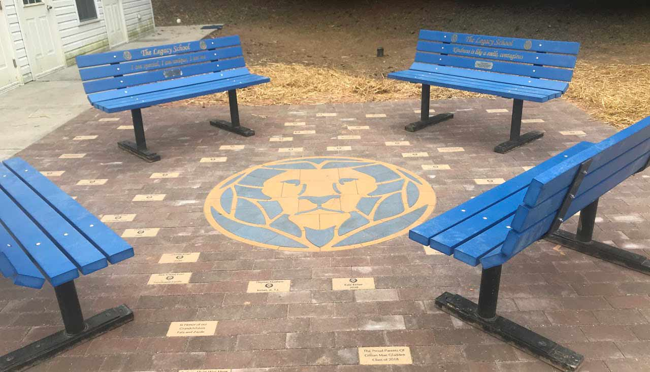 Check out our beautiful patio with all of the personalized bricks!  Thank you Keiser Family!
